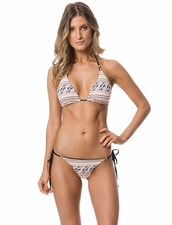 Guria Beachwear Safari Reversible Triangle Top & Scrunch Tie Side Bottom