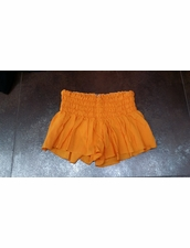 Indah Mika Smock Band Shorts in Orange