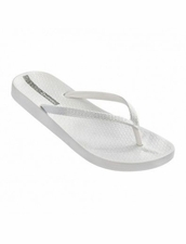 Ipanema Ana Metallic Flip Flops in White and Silver