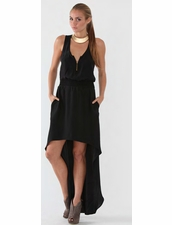 Karina Grimaldi Dahlia Maxi Dress in Black