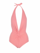 Karla Colletto Basic Plunge Swimsuit