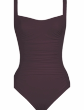 Karla Colletto Basic Square Neck One Piece Swimsuit