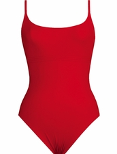 Karla Colletto Basic Tank Lingerie Straps in Red