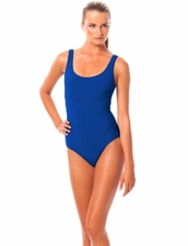 Karla Colletto Basic Round Neck One-Piece in Atlantis