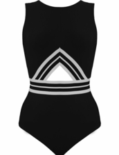 Karla Colletto Parallel High Neck Tank with Keyhole Back and Hook