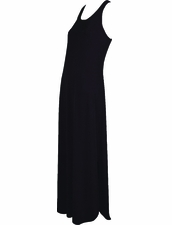 Karla Colletto Resortwear Long Tank Dress in Black