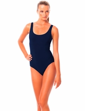 Karla Colletto Basic Tank One Piece in Navy