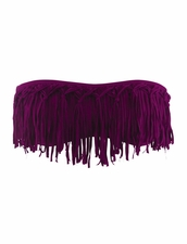 L*Space Swimwear Dolly Knotted Fringe in Berry Color
