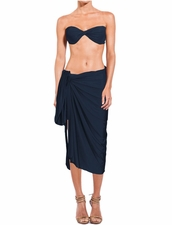 Lenny Niemeyer Long Sarong in Blue Stone
