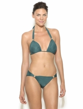 Lenny Niemeyer Python Two Piece Bikini in Forest Green Color