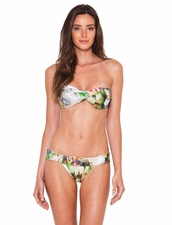 Lenny Niemeyer Monet Twist Bandeau Top & Banded Bottom