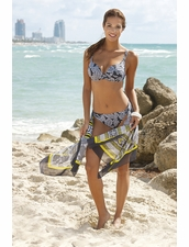 Lidea Swimwear Paisley Dande Molded Underwire Two Piece Bikini