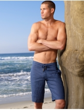 Sauvage Men's Linen Short in Navy