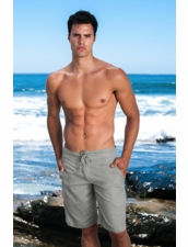 Sauvage Men's Linen Shorts in Slate