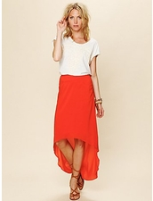 lovers+friends Pretty Heart Skirt in Orange