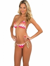 Luli Fama Flamingo Beach Braided Triangle Bikini   More Styles Available Inside