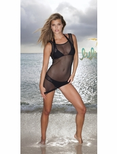 Luli Fama For Your Eyes Only Bond Girl Net Tank in Black