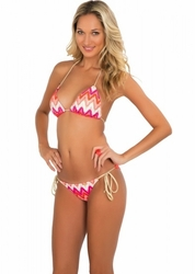 "Luli Fama Flamingo Beach Braided Triangle Bikini  <br> <font color=""red"" size=""2""><b>More Styles Available Inside</b></font>"
