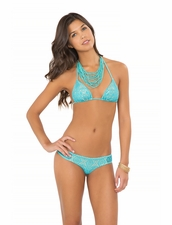 Luli Fama Miami Nights Sheer Bottom in Aruba Blue