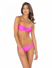 Lull Fama Borrachera de Mar Zig-Zag Bottom in Too Hot Pink