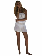 Melissa Odabash Fruley Short Dress in Solid White Color