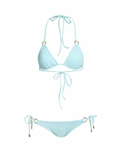 Melissa Odabash Palm Two Piece Bikini in Pale Blue