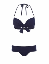 Mellisa Odabash Tortola Push-up Underwire Two Piece Bikini in Navy