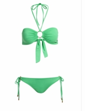 Mielissa Odabash  Janeiro Two Piece Swimsuit in Solid Green ** 2015 Collection **