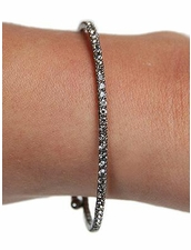 Mini Rhinestone Wrap Bracelet in Hematite by Funky Junque at Pesca Trend