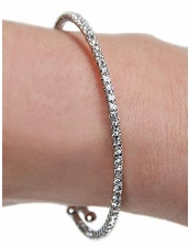 Mini Rhinestone Wrap Bracelet in SIlver by Funky Junque at Pesca Trend