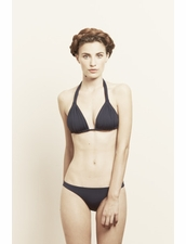 Olga Olsson Ava Rushed Reversible Navy Bikini