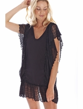 Peixoto Antigua Beach Dress in Black