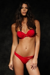Peixoto Red Tairona Top and Alda Bottom Bikini