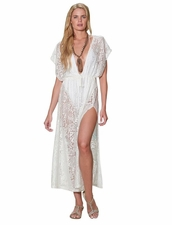 Pia Rossini Latina Maxi Dress in White