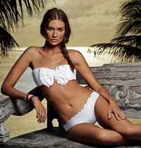 Pily Q Bohemian White Eyelet Bandeau Two Piece Bikini  ** 2014 Collection **