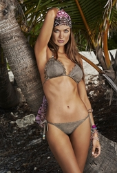 Pily Q Chuchi Suede Triangle Azter Laser Top & Tie Side Bottom  ** 2014 Collection **
