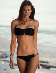 Pily Q Midnight Gold Braided Bandeau Two Piece Bikini  ** 2014 Collection **