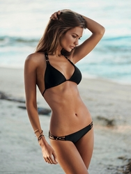 Pily Q Midnight Gold Braided Triangle Two Piece Swimsuit  ** 2014 Collection **