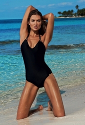 Pily Q  Midnight Gold Braided Halter One Piece Swimsuit ** 2014 Collection **