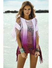 Pily Q Sunset Monique Beach Cover-Up in Purple