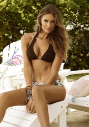 Pily Q Swimwear Dakota Basic Halter Top & Belted Bottom ** 2015 Collection **