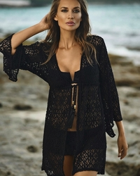 Pily Q Swimwear Lace Diva Black Venus Tunic ** 2015 Collection **