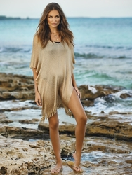 Pily Q Swimwear Madagascar Poncho in Gold **2015 Collection **