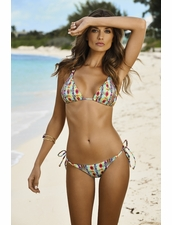 Pily Q Swimwear Sunbeam Embroidered Triangle & Tie Side Bottom ** 2015 Collection **
