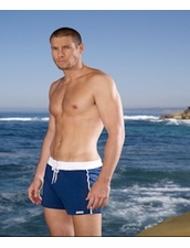 Sauvage Man's Retro Lycra Short in Navy