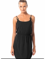 Karla Colletto Ropes Round Neck Dress