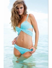 Sauvage Swimwear Mon Cheri  Bikini in Aqua Color