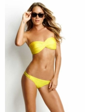 Seafolly Swimwear Shimmer Twist Bandeau in Yellow