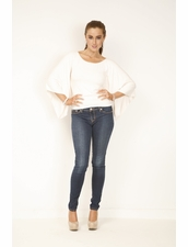 SKY Annan Crochet Top in Off White
