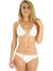 "Luli Fama Sweet Seduction Triangle Bikini in Gold Rush <br> <font color=""red"" size=""2""><b>More Styles Available Inside</b></font>"